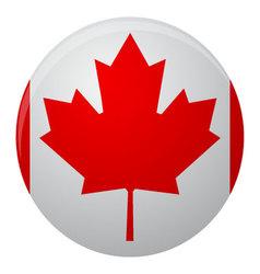 Canada flag icon flat vector image vector image
