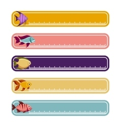 Colorful banners with fishes vector image