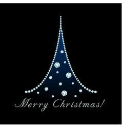 Diamond christmas tree vector