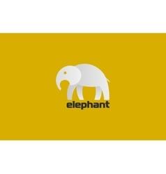 Elephant logo minimalistic elephant logo animal vector image