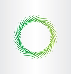 green abstract circle background vector image vector image