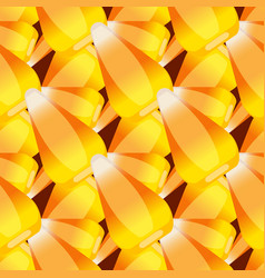 halloween candy corn seamless pattern vector image vector image
