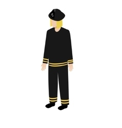 Isometric fireman icon vector