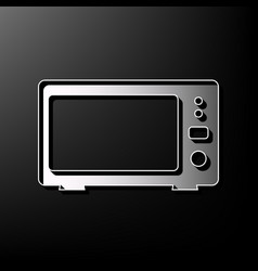 Microwave sign gray 3d vector