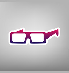 Modern glass sign purple gradient icon on vector