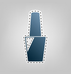 Nail polish sign blue icon with outline vector
