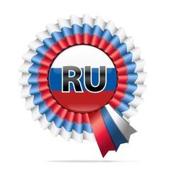 National flag badge ru vector