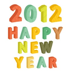New Years text 2012 vector image vector image