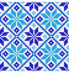 Nordic ornament knitting seamless texture vector image vector image