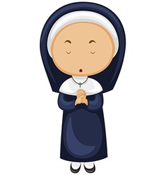 Nun in blue outfit vector