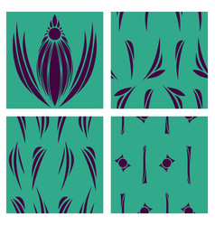 Oriental assembly of patterns vector