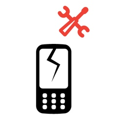 Phone service icon vector image vector image