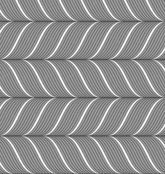 Ribbons gray horizontal chevron pattern vector image vector image