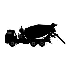 Silhouette of a concrete mixer vector