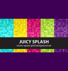 Square pattern set juicy splash seamless tile vector