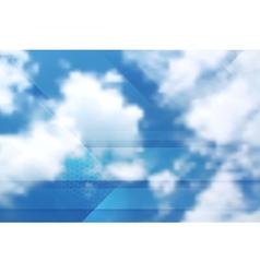 Tech cloudscape collage gradient mesh vector