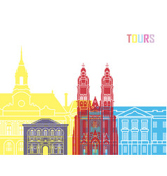 Tours skyline pop vector