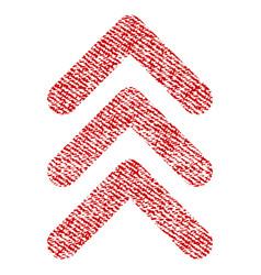 Triple arrowhead up fabric textured icon vector
