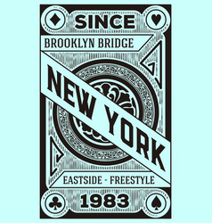 vintage new york brooklyn design vector image vector image