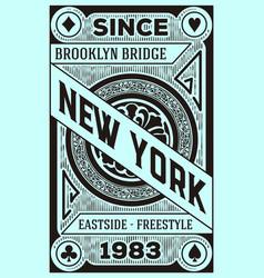 vintage new york brooklyn design vector image