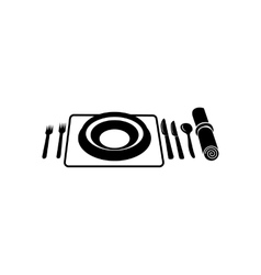 Wedding utensils simple icon vector