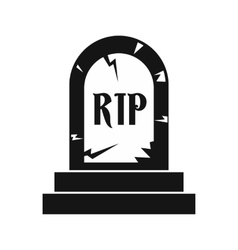 Tombstone icon in simple style vector