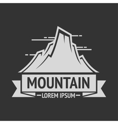 Mountain exploration vintage logos emblem vector image