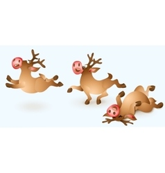 Christmas reindeer collection vector