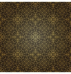 Seamless texture with vintage geometric ornament vector