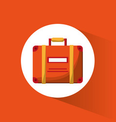 Suitcase bagagge travel icon vector