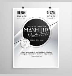 Music party flyer template layout design for new vector