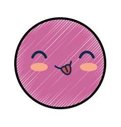 Smiley cartoon childish vector