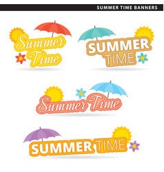 Summer time banners vector