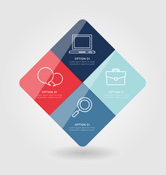 Modern business infographic vector