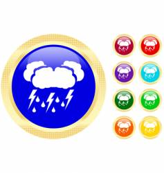 Thunderstorm icons vector