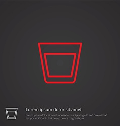 Vodka outline symbol red on dark background logo vector