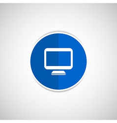 Computer display isolated icon screen monitor vector