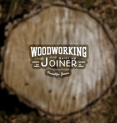 Woodworking badges logos and labels for any use vector