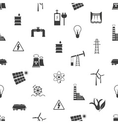 electricity and energy icons and symbol seamless vector image