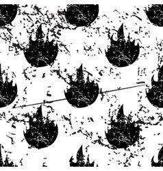 Flame pattern grunge monochrome vector