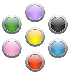 colored glossy icons vector image