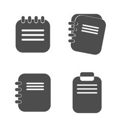 Notepad icon in a flat design isolated vector