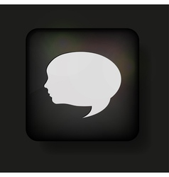 Face speech bubble icon vector