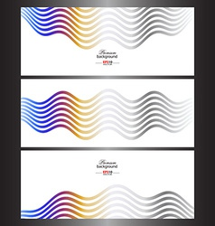 Abstract technology banner templates vector image vector image