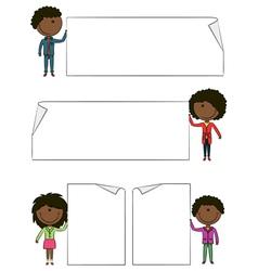 African-American kids vector image vector image