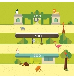 Animal and Zoo vector image vector image
