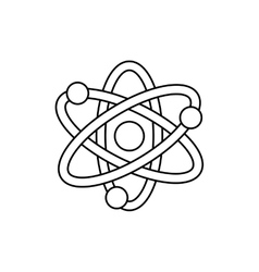 Atom molecule isolated vector image