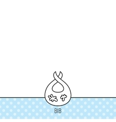 Bib with dirty spots icon Baby clothes sign vector image vector image