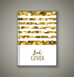 Book cover with glittery design vector image vector image