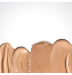border of makeup liquid foundation vector image
